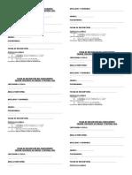 Ficha de Inscripción Del Participante Concurso d y p 2016