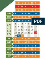 Calendario Reducido 2015 A4