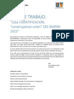 Plan de Trabajo Cee 2016 +IDENTIFICACIÓN