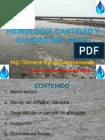 Ponencia Hidrologia Cantidad y Calidad de Agua