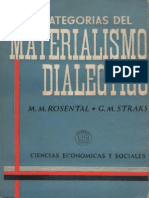 m. Rosental - Categorias Del Materialismo Dialectico