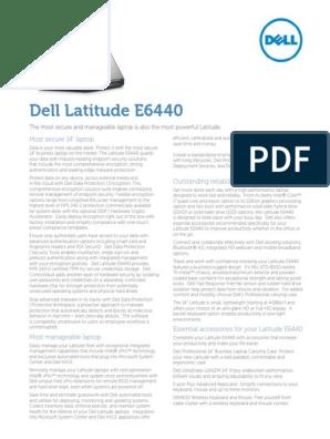 Dell Latitude E6440 Spec Sheet | Solid State Drive | Laptop