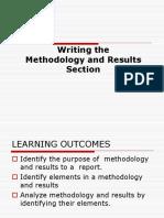 Week 11- Methodology