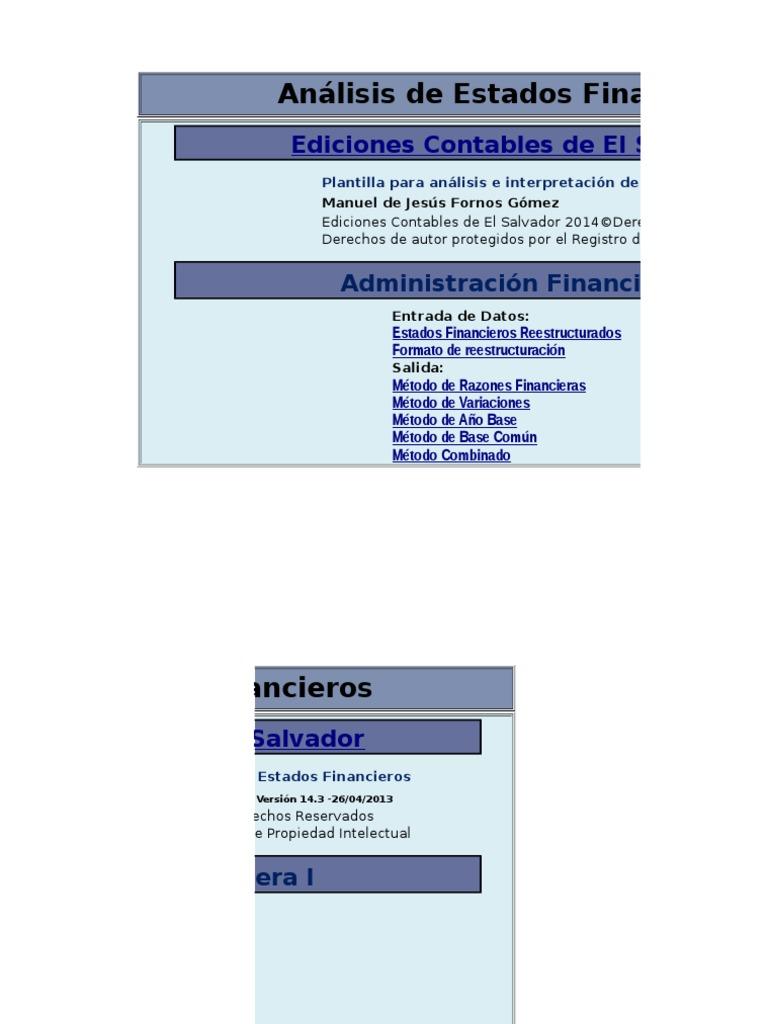 Plantilla Analisis Financiero Gaby