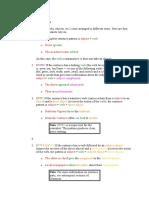 Sentence Part Patterns