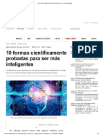 10 Formas Científicamente Probadas Para Ser Más Inteligentes