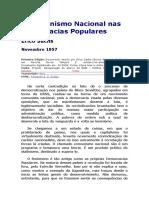 O Comunismo Nacional Nas Democracias Populares