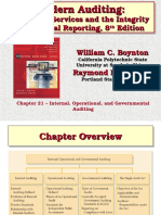 Chapter 21 Internal, Operation and Governmental Auditing