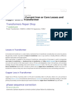 Hysteresis Eddy Current Iron or Core Losses and Copper Loss in Transformer _ Electrical4u