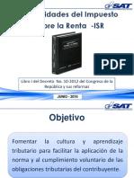 3 Generalidades Del ISR --Junio-2016 (1)