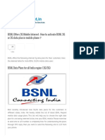 BSNL Offers 3G Mobile Internet - How to Activate BSNL 3G or 2G Data Plan in Mobile Phone _ - Telecom News Plans and Customer Care