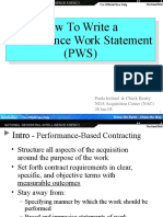 How to Write a PWS Training