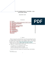 Concepts of Mathematics, Summer 1 2014
