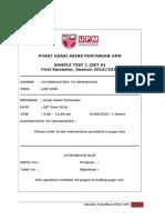 Sample Test 1 a q 0501 Perdana