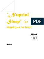 Nuptial Sleep-erotic poetry