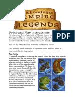 8 Minutes Empire Legends - Rules