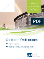 Catalogue of Courses