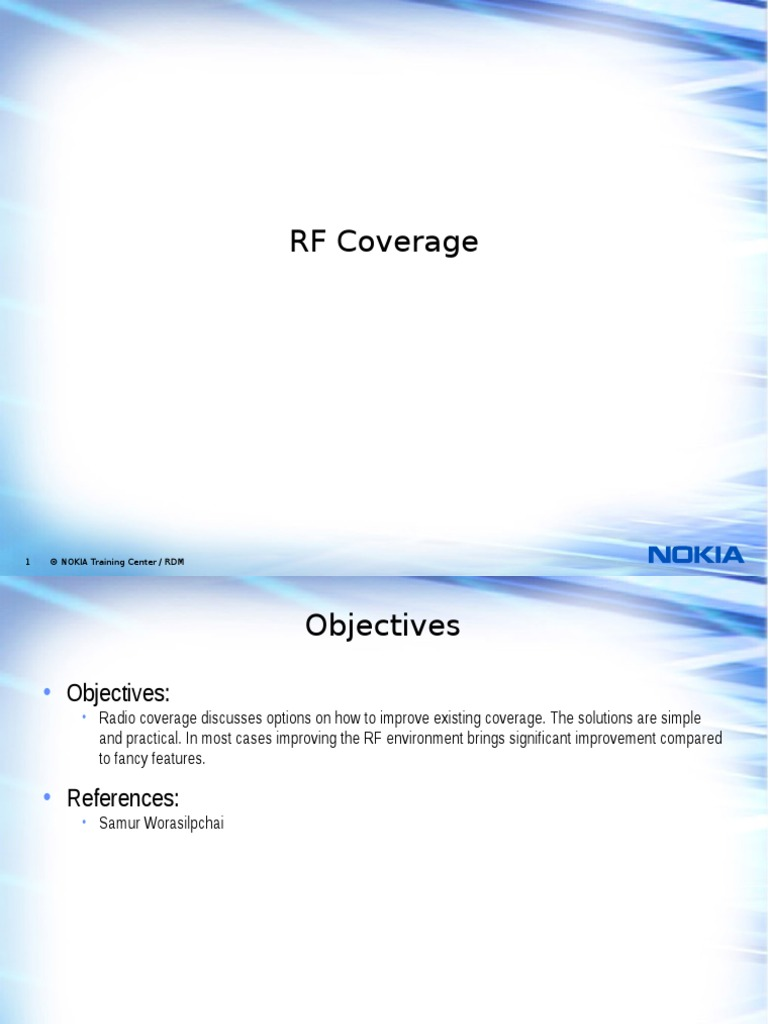 Advanced RANOP Chapter 1 - RF Coverage PFF   Antenna (Radio