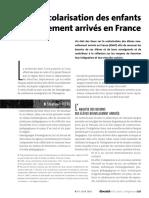 71875 11186 14243 La Scolarisation Des Enfants Nouvellements Arrives en France
