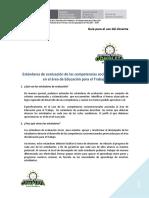 Guía Para El Uso de Los Estándares de Evaluación Educación Para El Trabajo