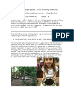 animals kindergarten lesson reflection doc