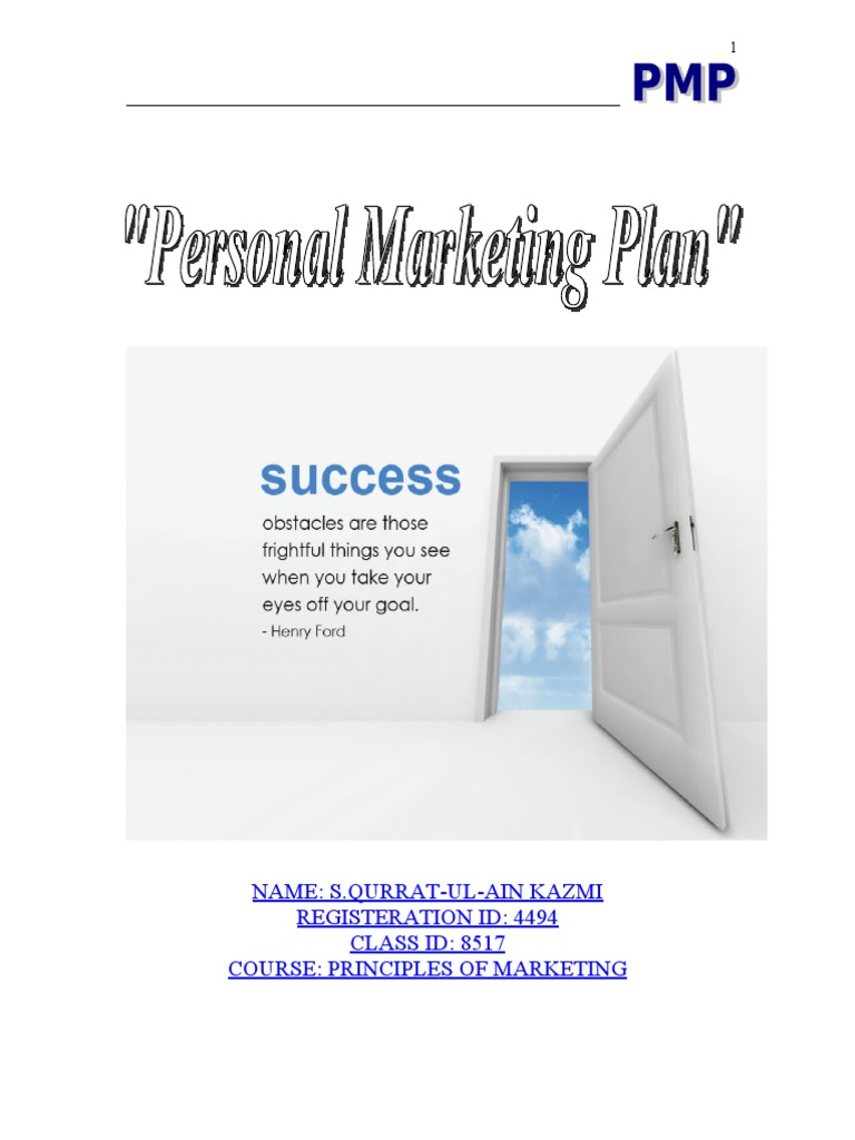 personal marketing plan market segmentation