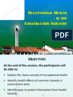 Occupational Health for Construction Workers