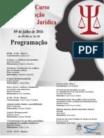 I Jornada do Curso de Especialização em Psicologia Jurídica da PUC-Rio.
