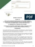 Decreto 1745 de 1995 Ley 70
