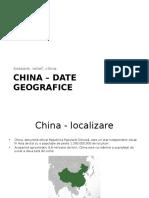 China – Date Geografice
