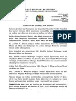 Rais Magufuli Ateua Wakuu Wa Wilaya Na Kufanya Mabadiliko Madogo Ya Wakuu Wa Mikoa