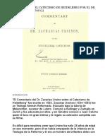 Comentario Del Catecismo de Heidelberg Por El Dr