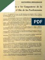 1972. Carta Abierta de Montoneros y Descamisados