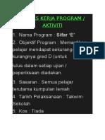 Kertas Kerja Program