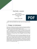 Paul Erdös. a Memoir - By Peter Cameron.