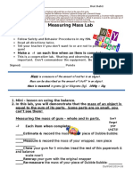 measuring mass and ipad matter lab sheets