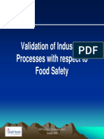 Validation of industrial processes