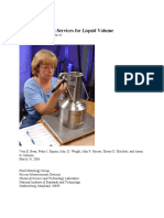 Calibration Services for Liquid Volume