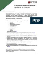 Términos de La Convocatoria Uninorte 2016-008-2