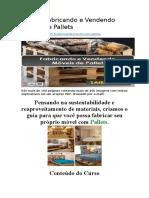 Curso - Fabricando e Vendendo Móveis de Pallets