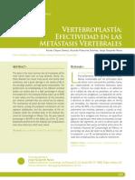 VERTEBROPLASTIA - CANCEROLOGIA
