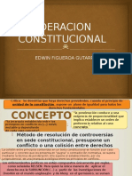 Ponderacion CONSTITUCIONAL