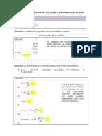 Temario de Problemas de Matemática Para Ingreso a La UNAM