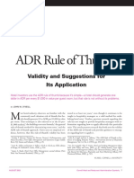 Hotel Average Daily Rate (ADR) Rule-Of-Thumb Article