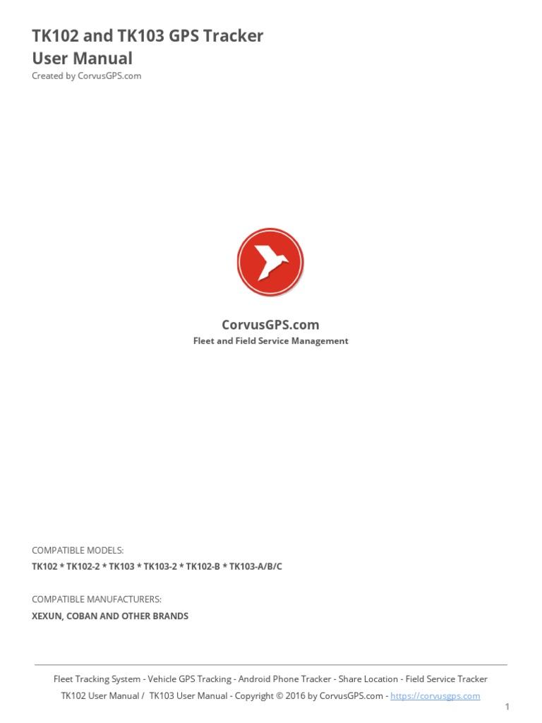 Gps Tk103 Manual User Pdf