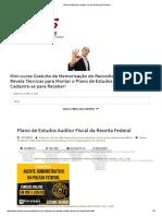 Plano de Estudos Auditor Fiscal Da Receita Federal