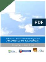 Relaciones Laborales y Evolucion Empresarial. PROPIEDAD DE LA EMPRESA.