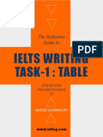 IELTS Writing Task1 Table