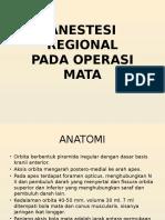 Anestesi Regional Pada Operasi Mata