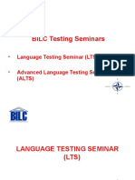 Bil c Testing Seminars Jan 10 Test